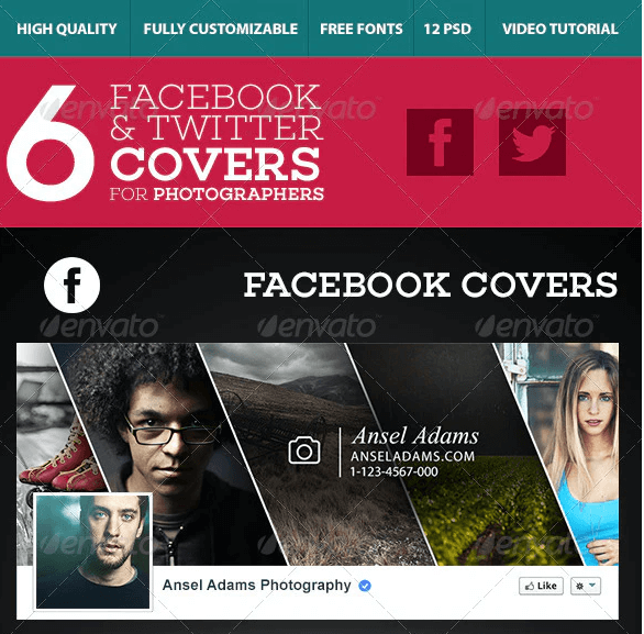 6 Facebook & Twitter Covers for Photographers