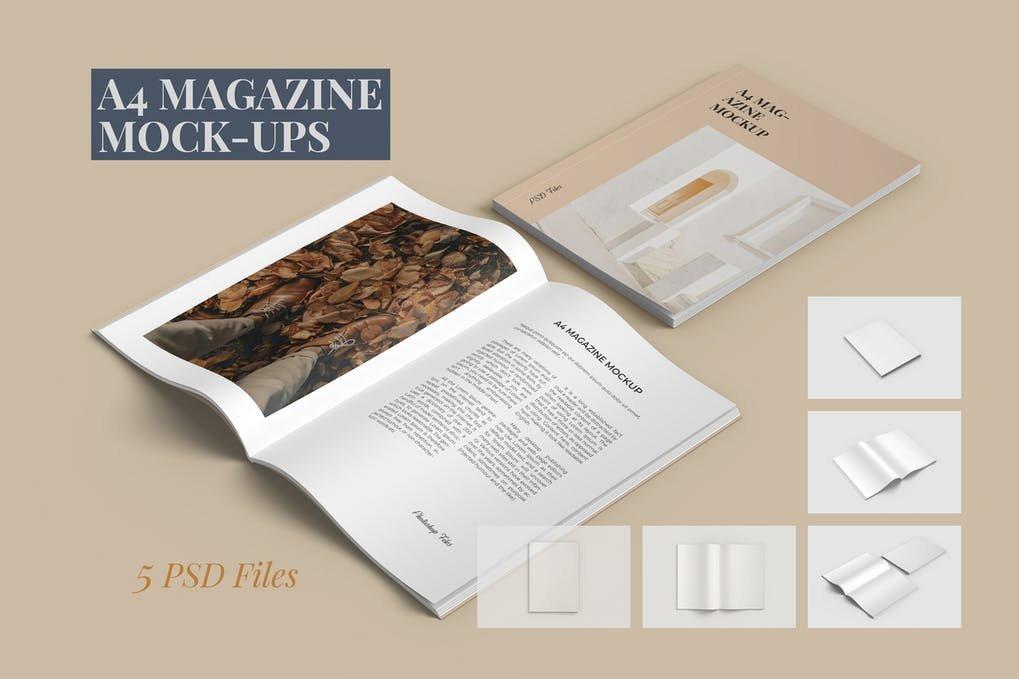 A4 Magazine Mockups (1)