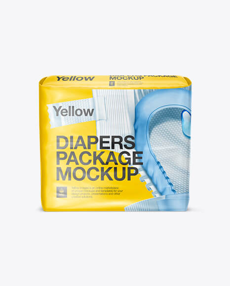 Baby Diapers Pack Mockup
