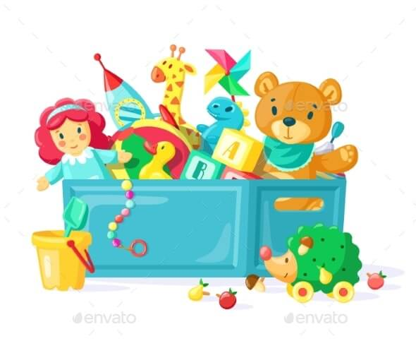 Baby Toys in Box