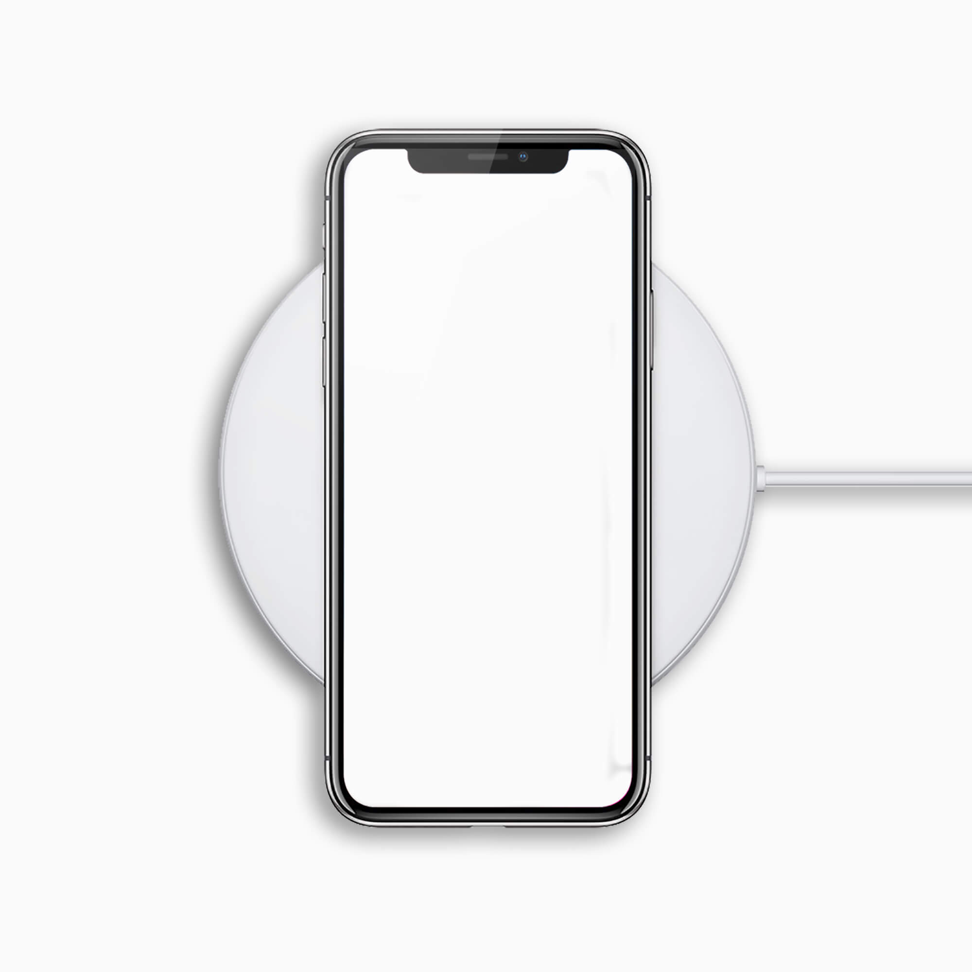 Blank Free Wireless Charger Mockup PSD Template