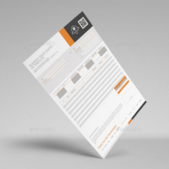 Business Sales Quote A4 Template