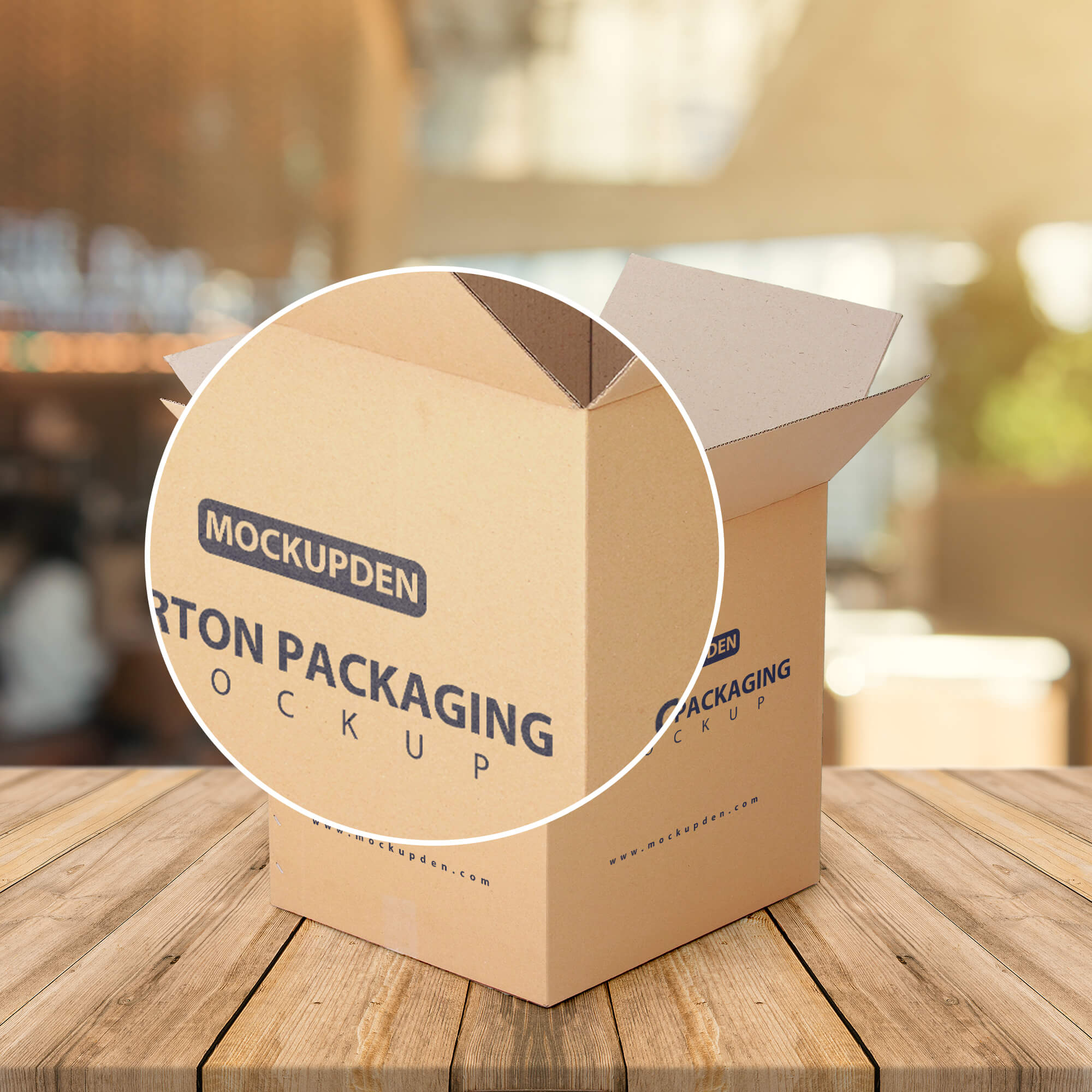 Close Up Of a Free Carton Packaging Mockup PSD Template
