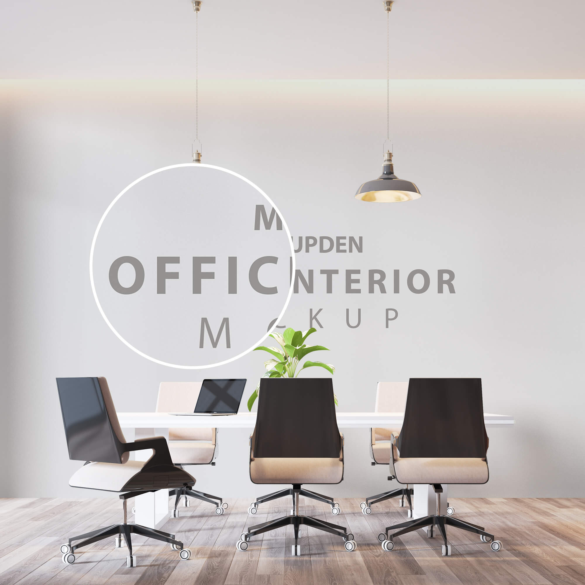 Close Up Of a Free Office Interior Mockup PSD Template (1)