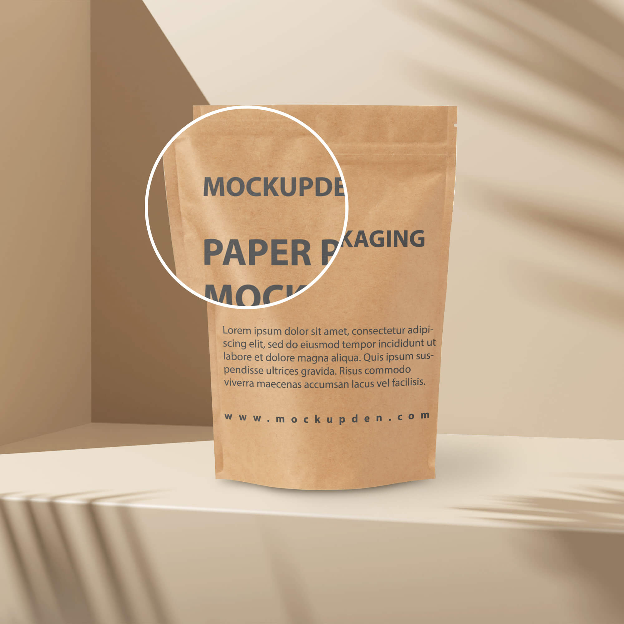 Close Up Of a Free Paper Packaging Mockup PSD Template