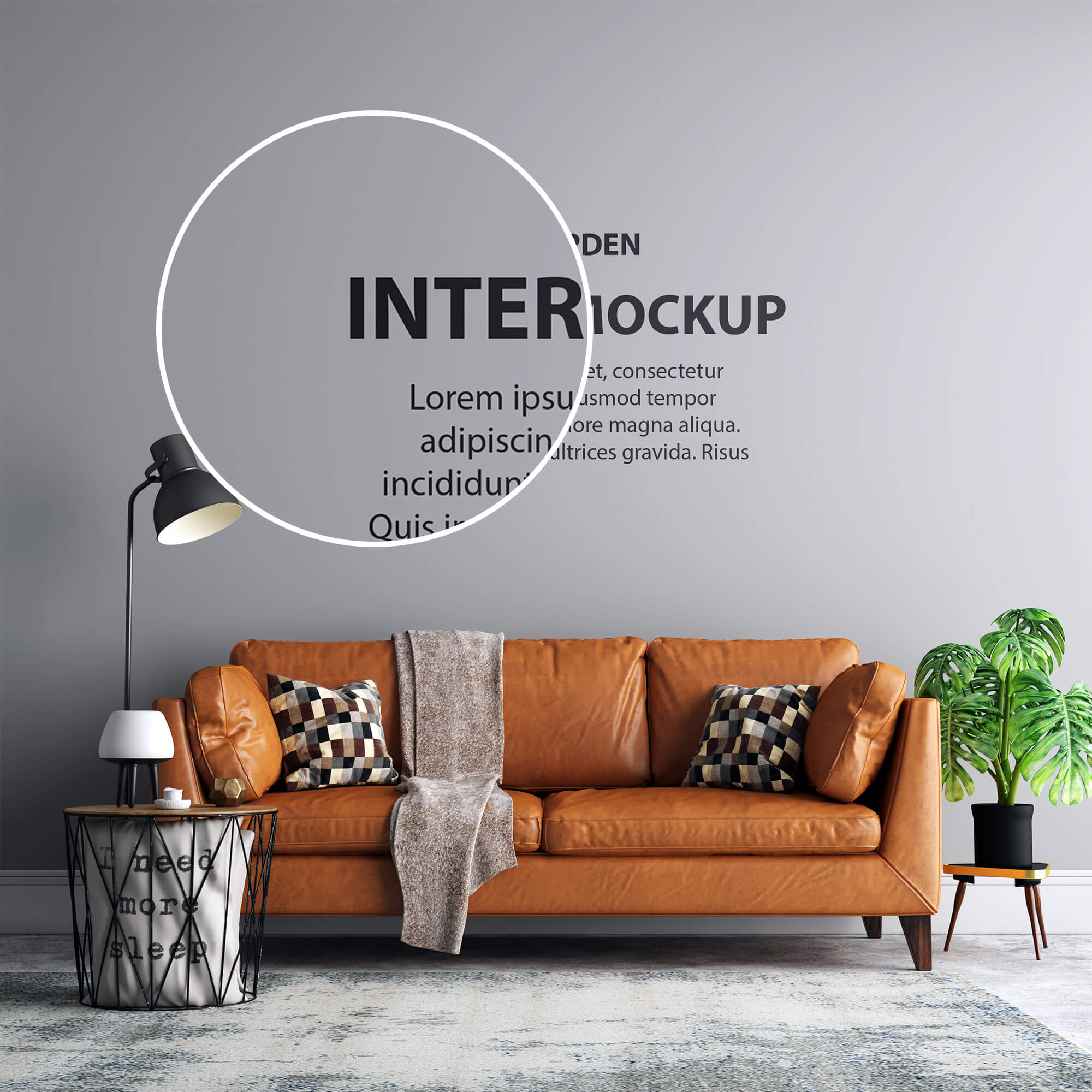 Close Up of a Free Interior Mockup PSD Template (1)