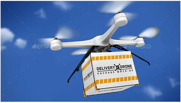 Delivery By Drone Package Mock-Up (1)