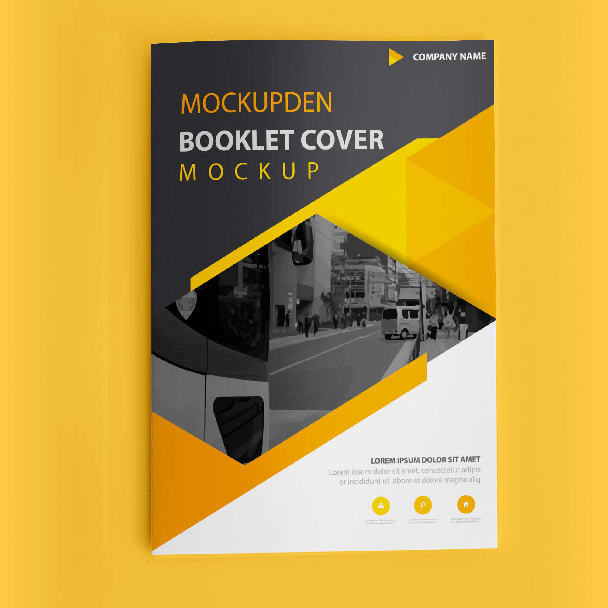 Design Free Booklet Cover Mockup PSD Template