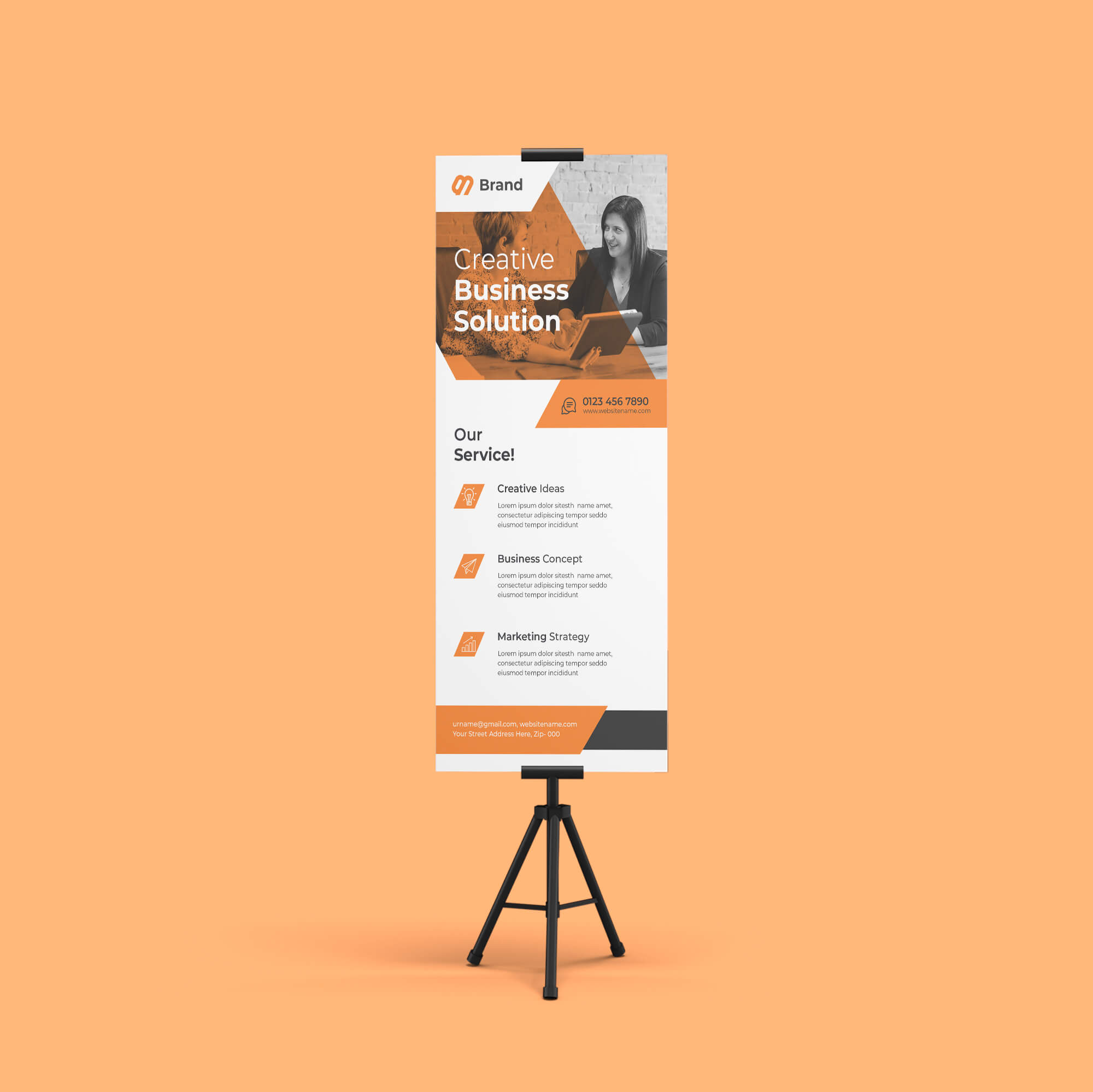 Design Free Exhibition Stand Mockup PSD Template