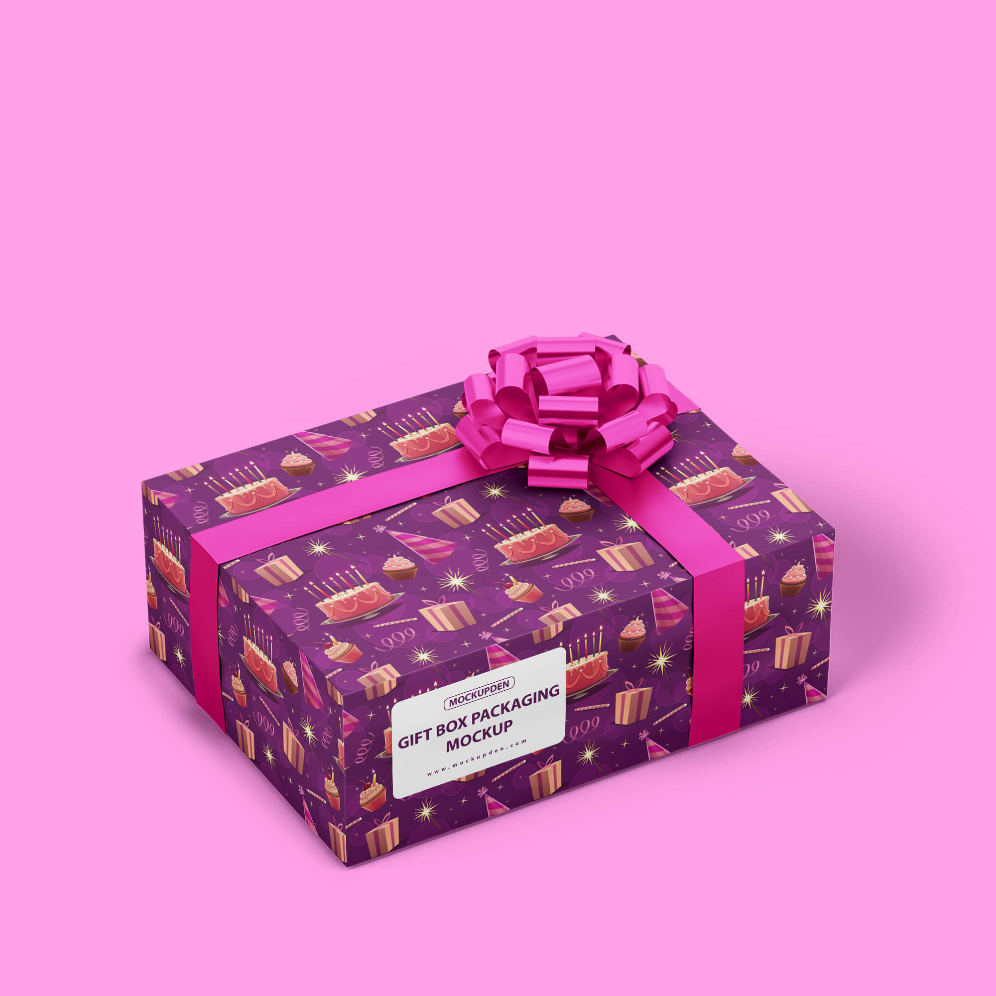 Design Free Gift Box Packaging Mockup PSD Template