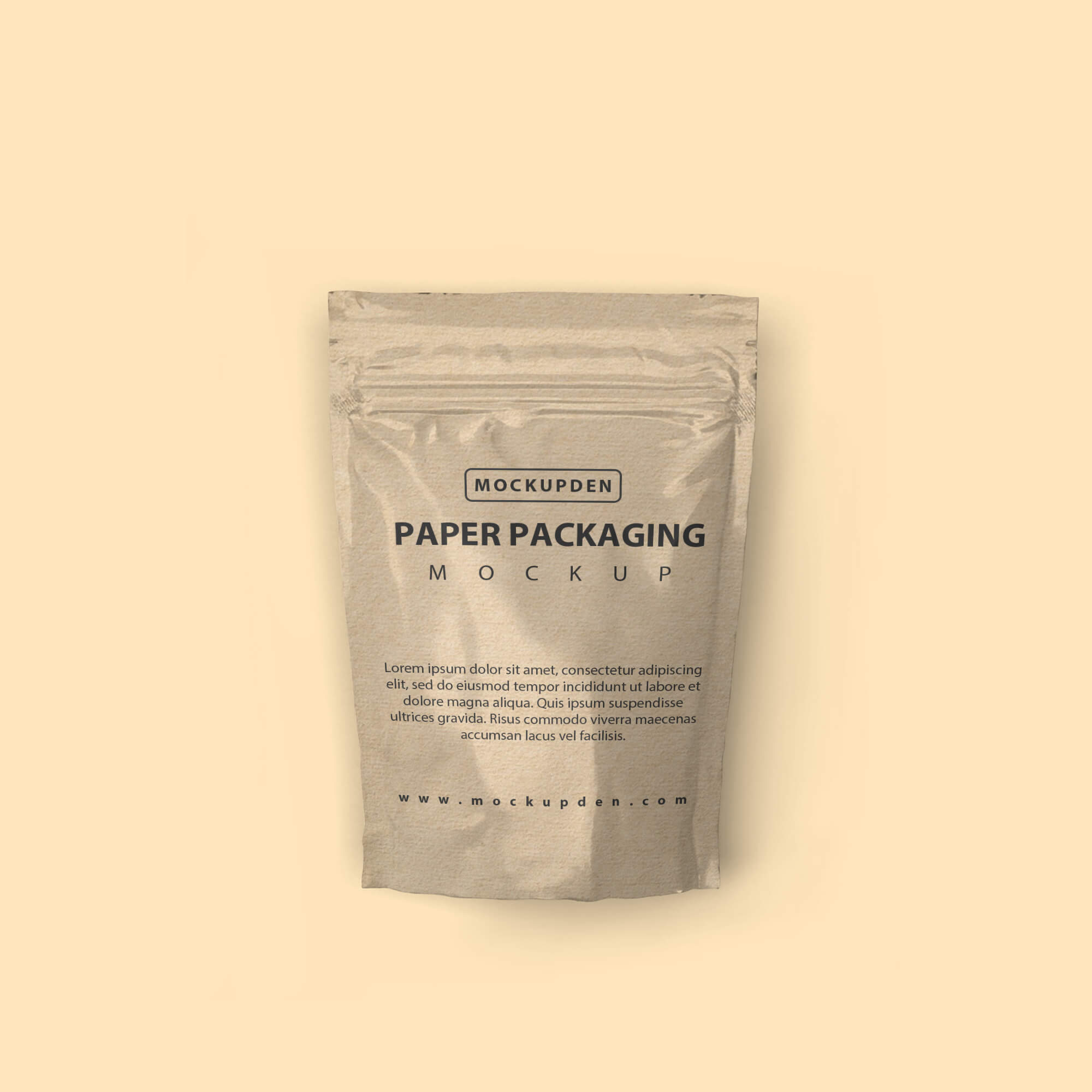 Design Free Paper Packaging Mockup PSD Template