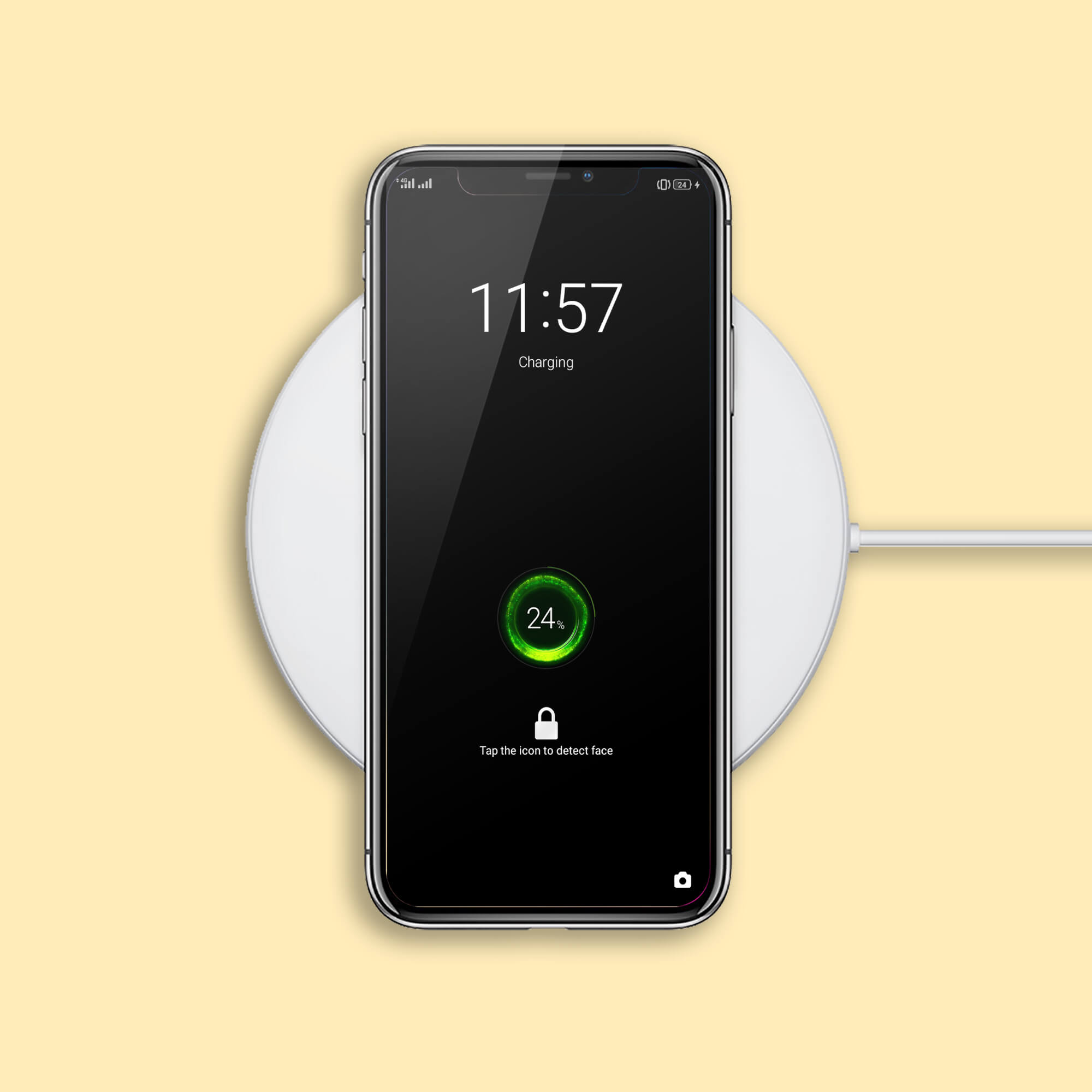 Design Free Wireless Charger Mockup PSD Template