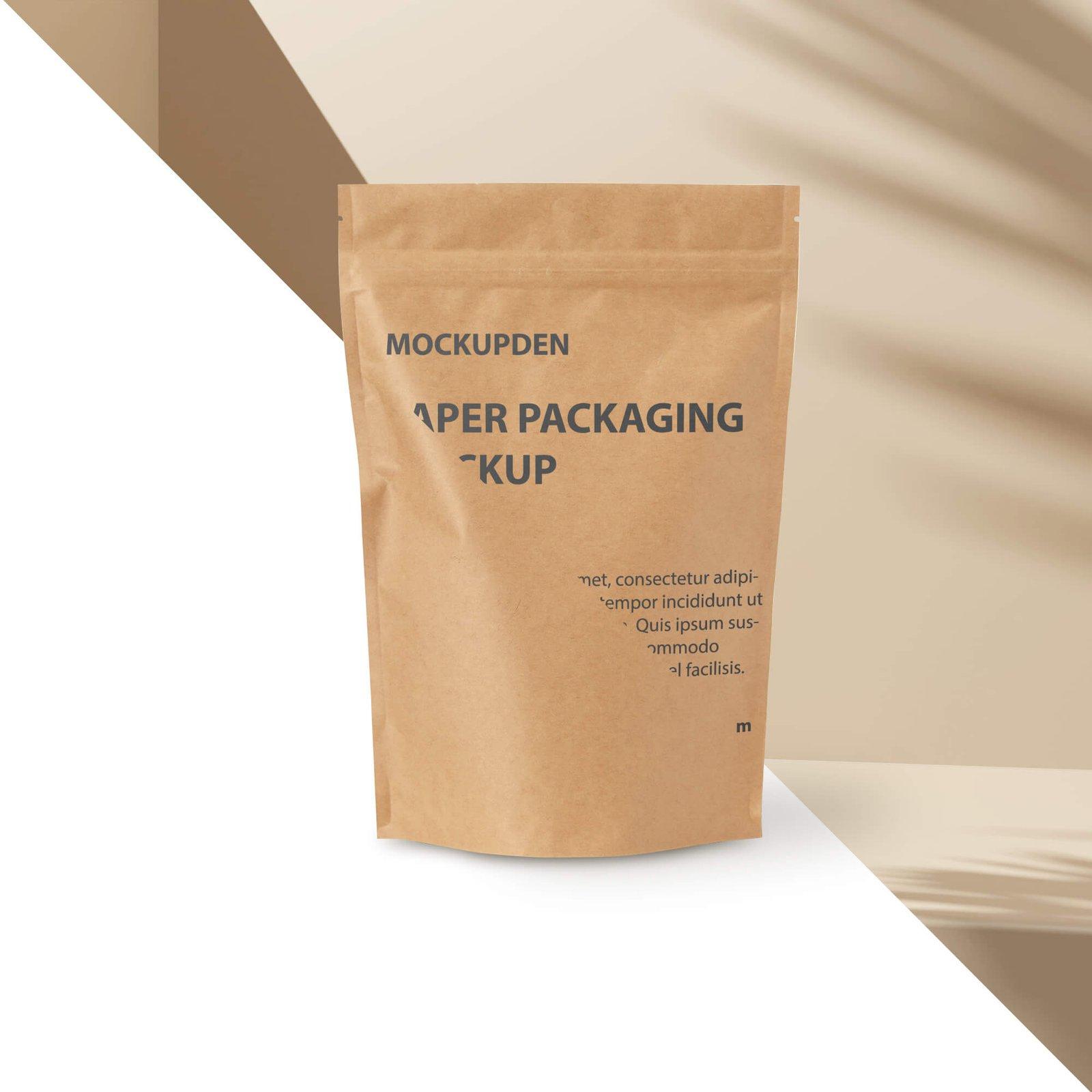 Editable Free Paper Packaging Mockup PSD Template