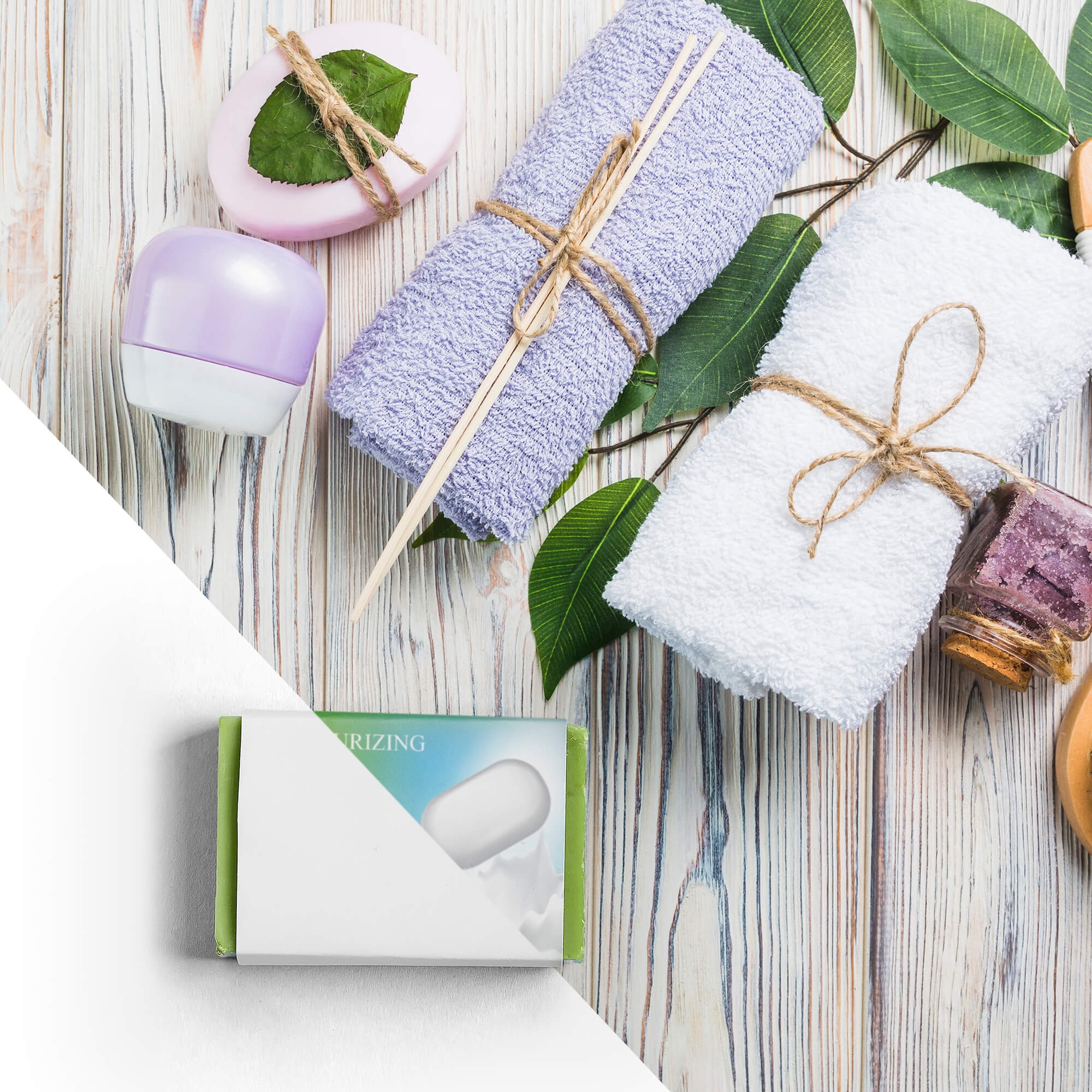 Editable Free Soap Packaging Mockup PSD Template