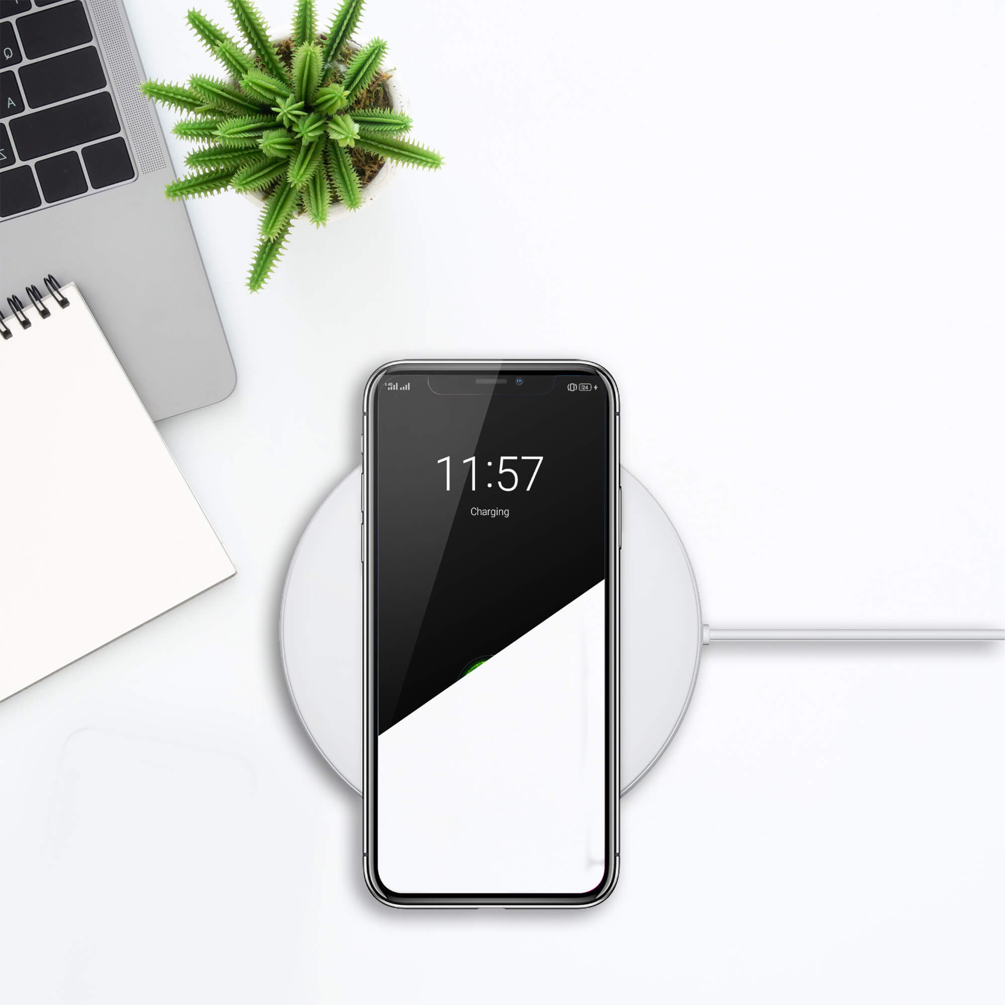 Editable Free Wireless Charger Mockup PSD Template