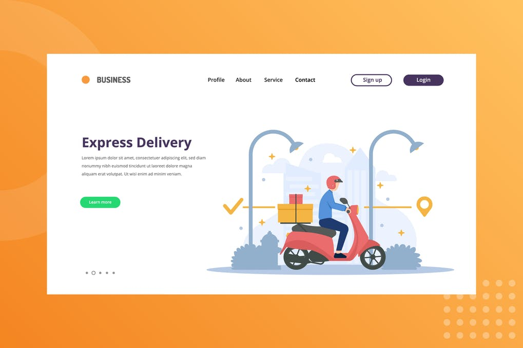 Express Delivery Package Landing Page