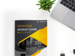 Free Booklet Cover Mockup PSD Template