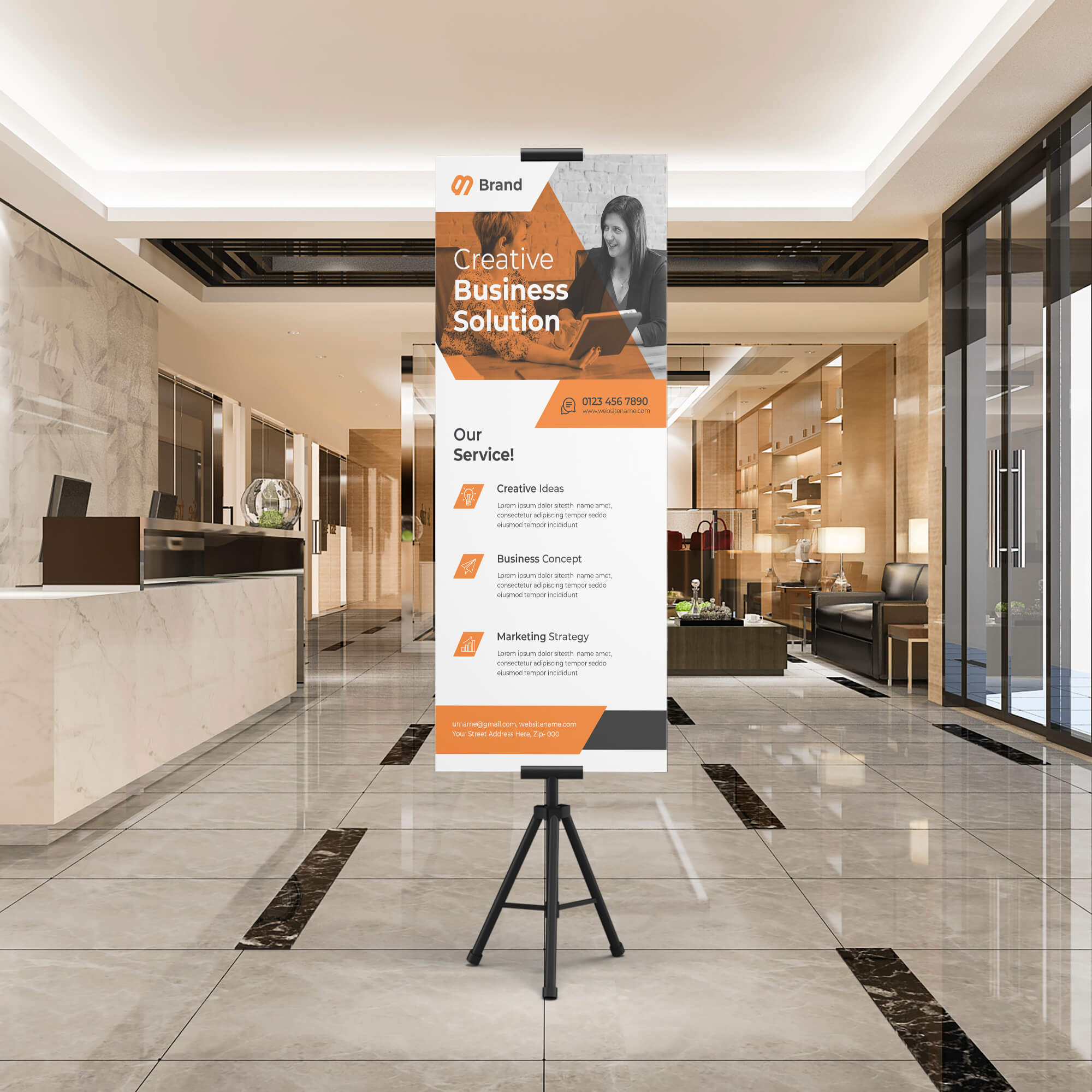 Free Exhibition Stand Mockup PSD Template