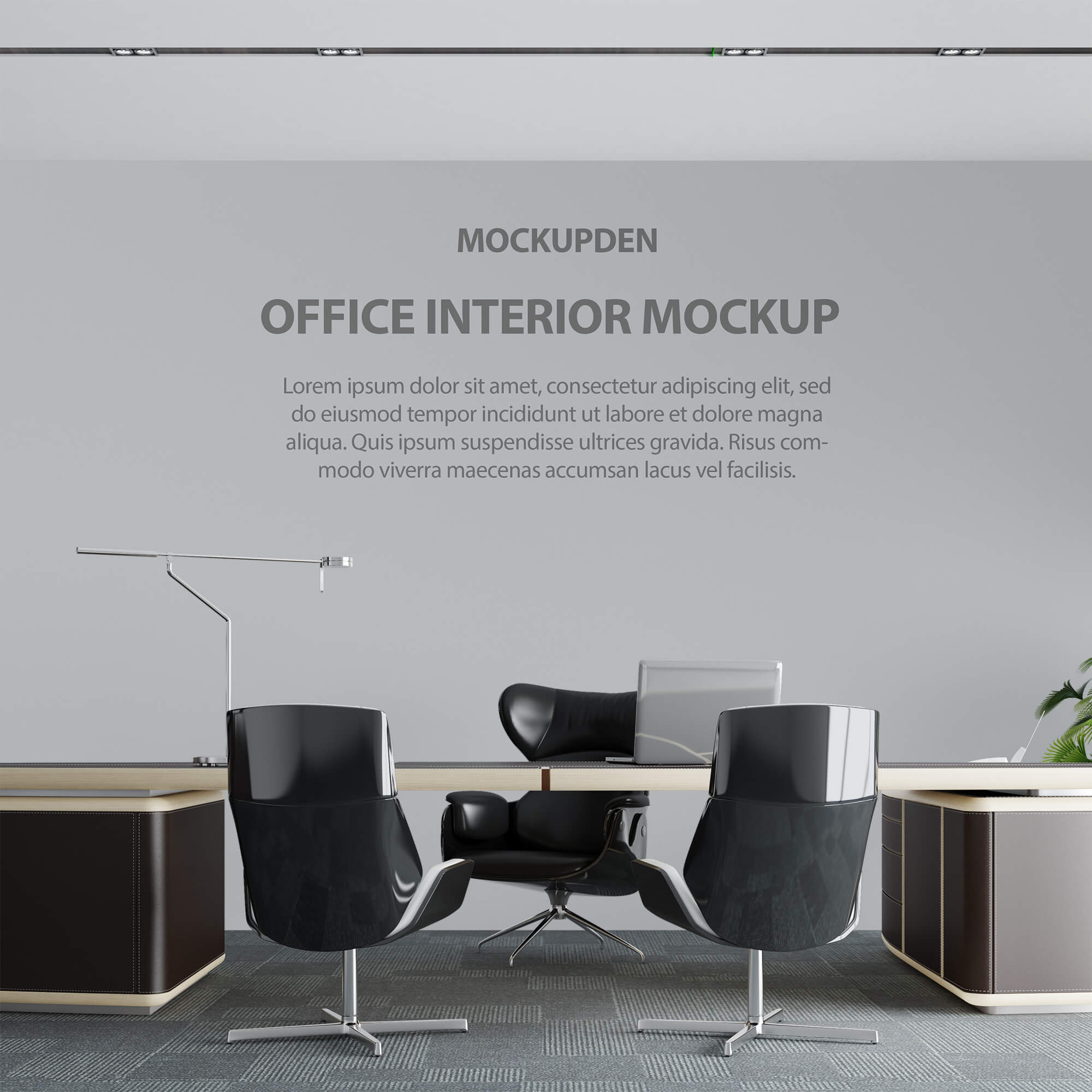 Free Office interior Mockup PSD Template