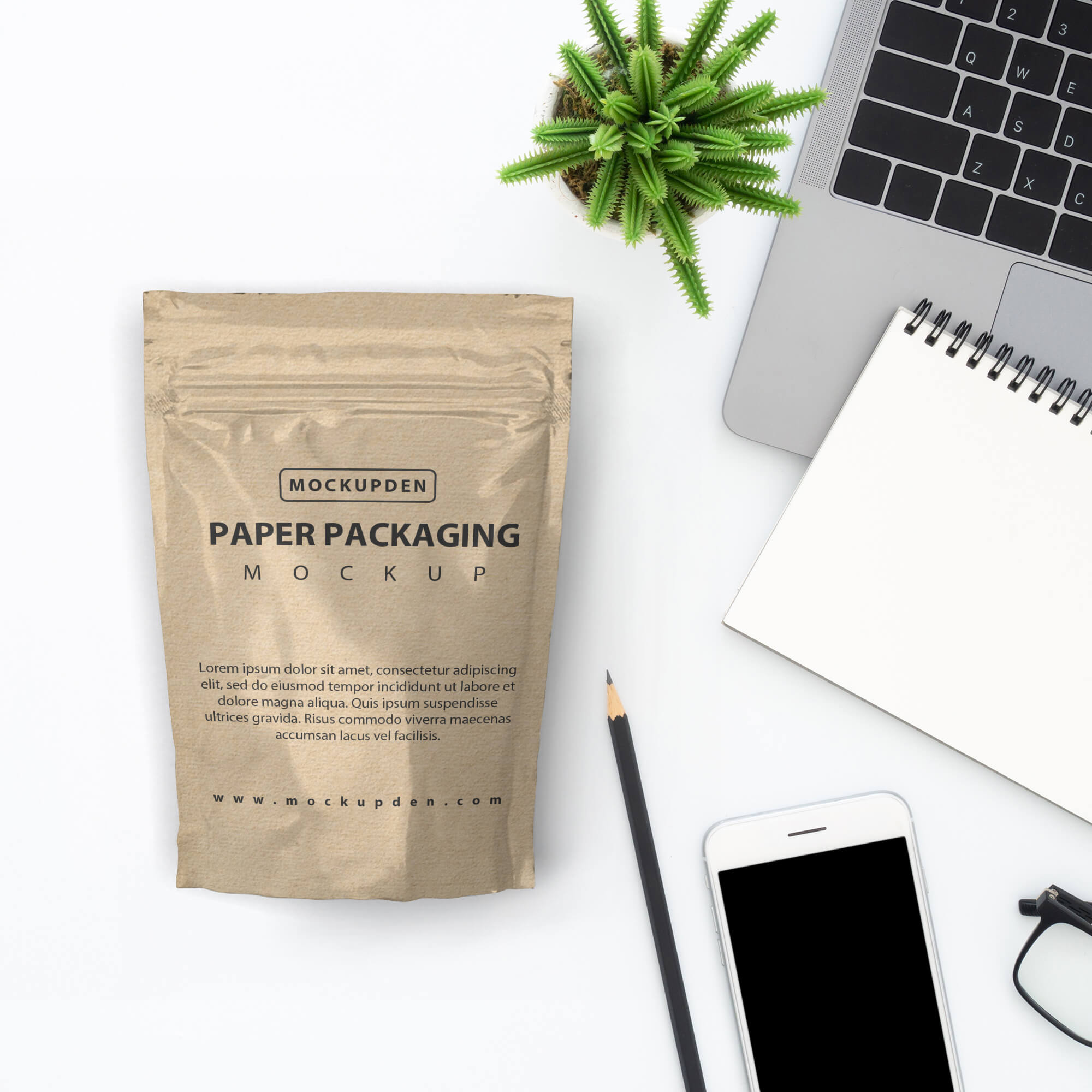 Free Paper Packaging Mockup PSD Template