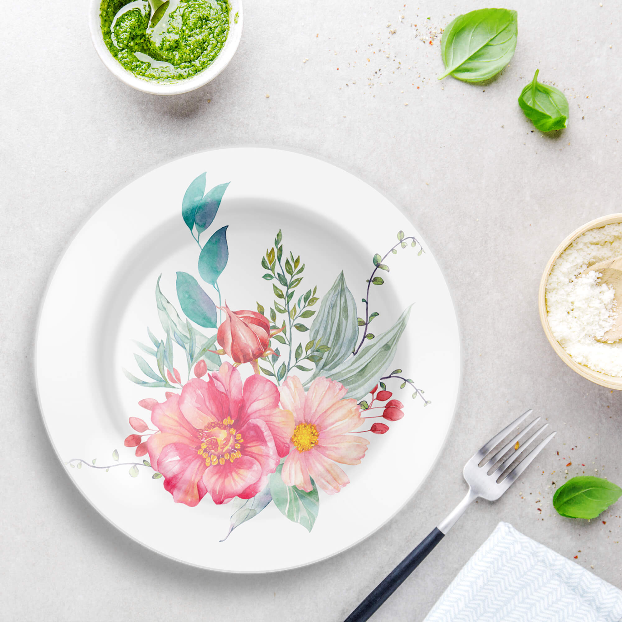 Free Dining Plate Mockup PSD Template