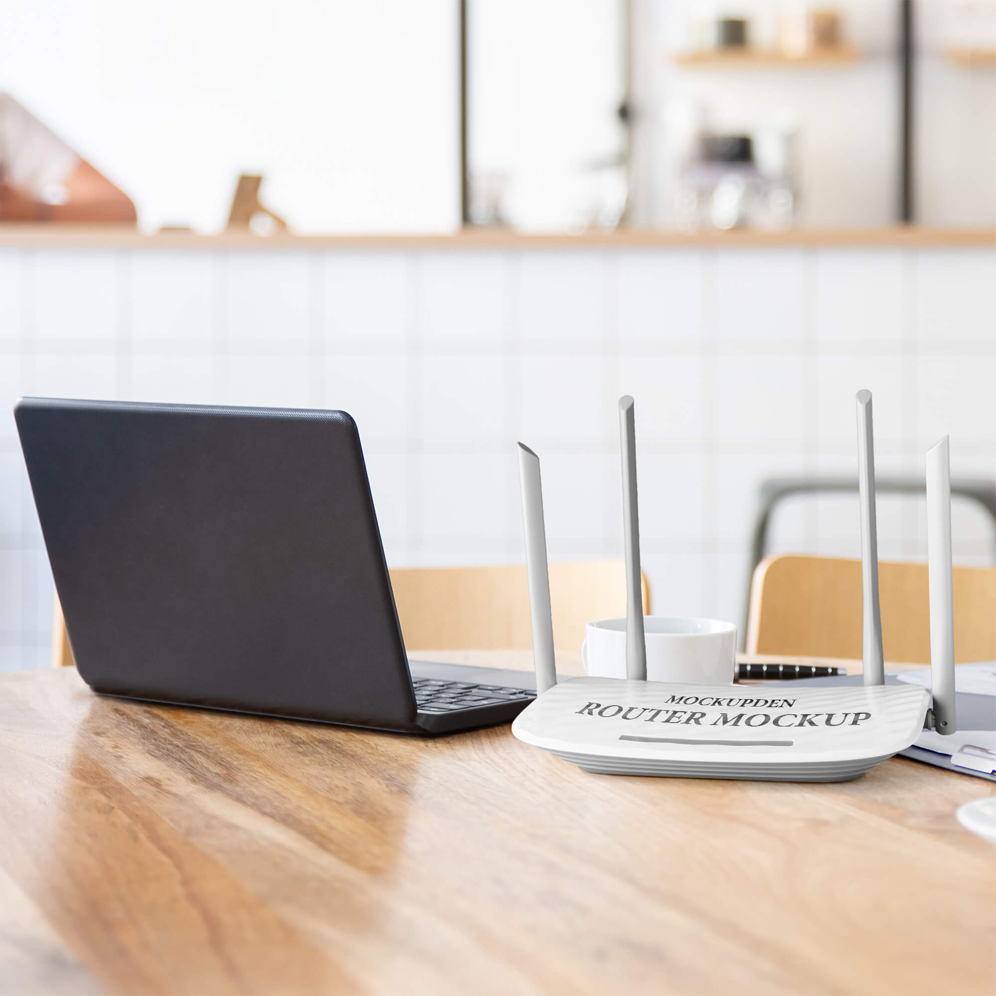 Free Router Mockup PSD Template