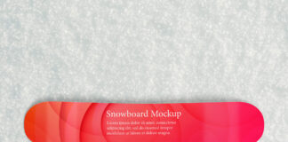 Free Snowboard Mockup PSD Template