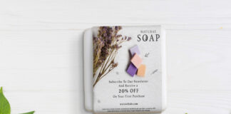 Free Soap Packaging Mockup PSD Template