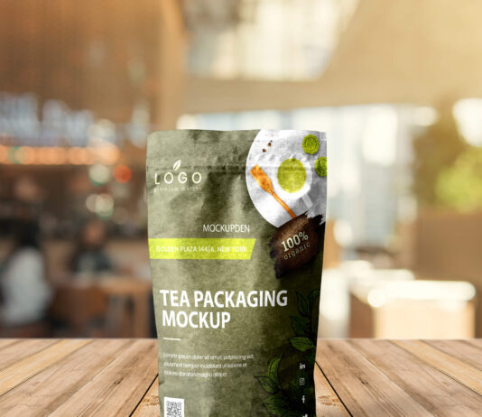 Free Tea Packaging Mockup PSD Template
