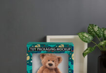 Free Toy Packaging Mockup PSD Template