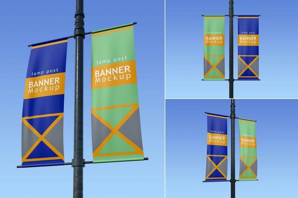 Lamp Post Banner - Mockup FH