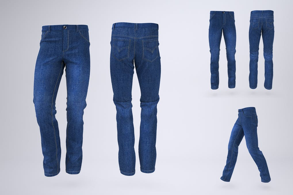 Man's Denim Jeans or Trousers Mock-Up