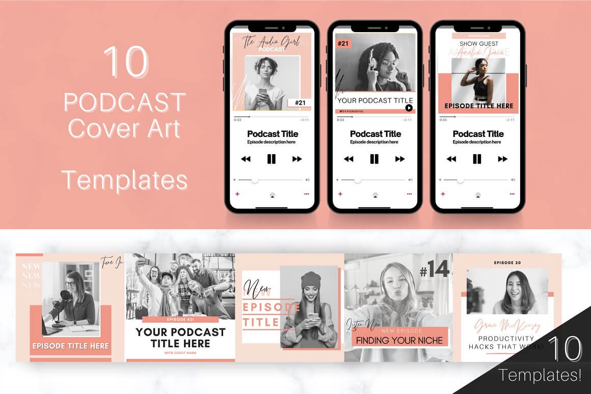 Podcast COVER ART Template Bundle