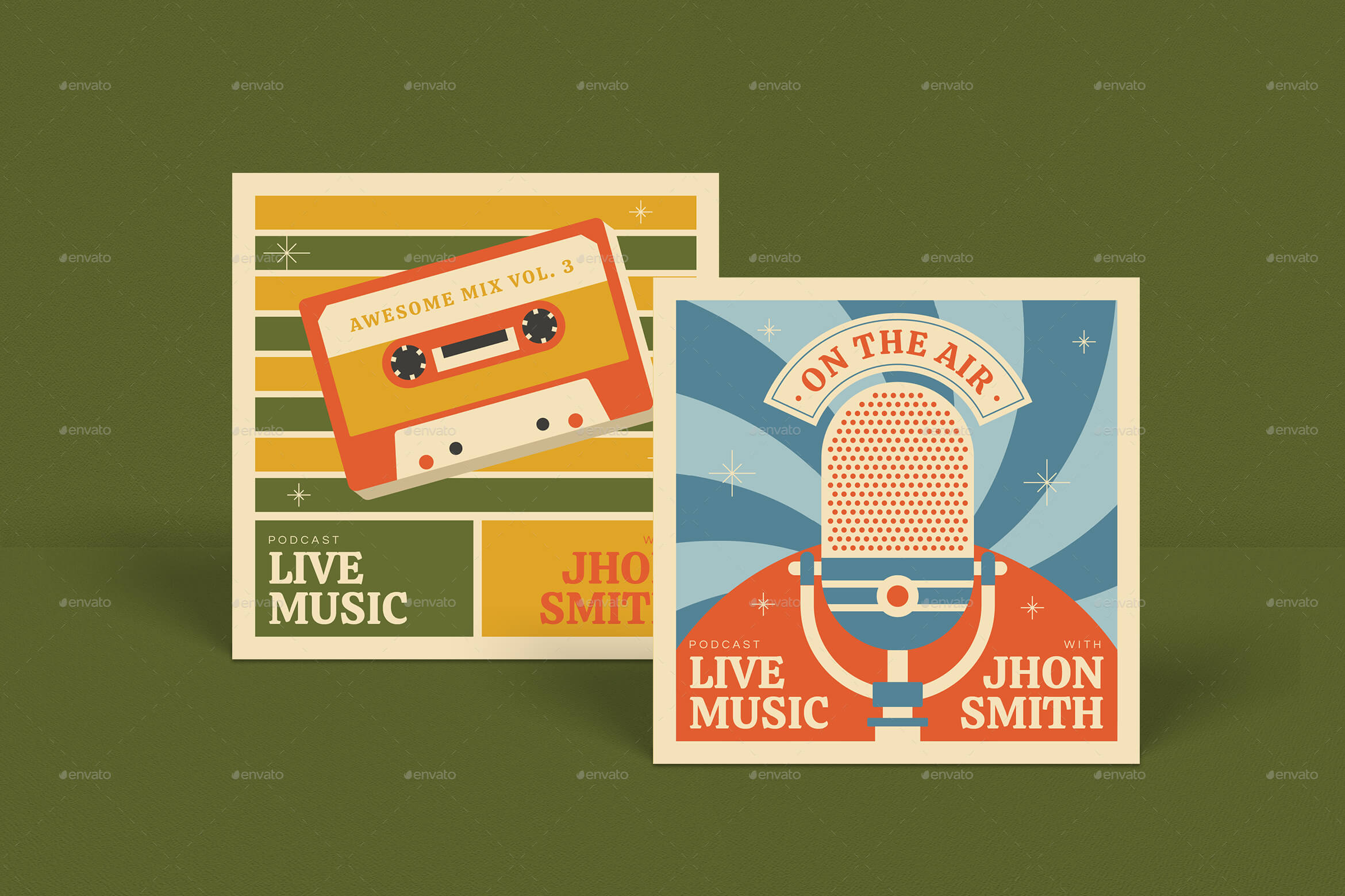 Retro Talkshow Podcast Package