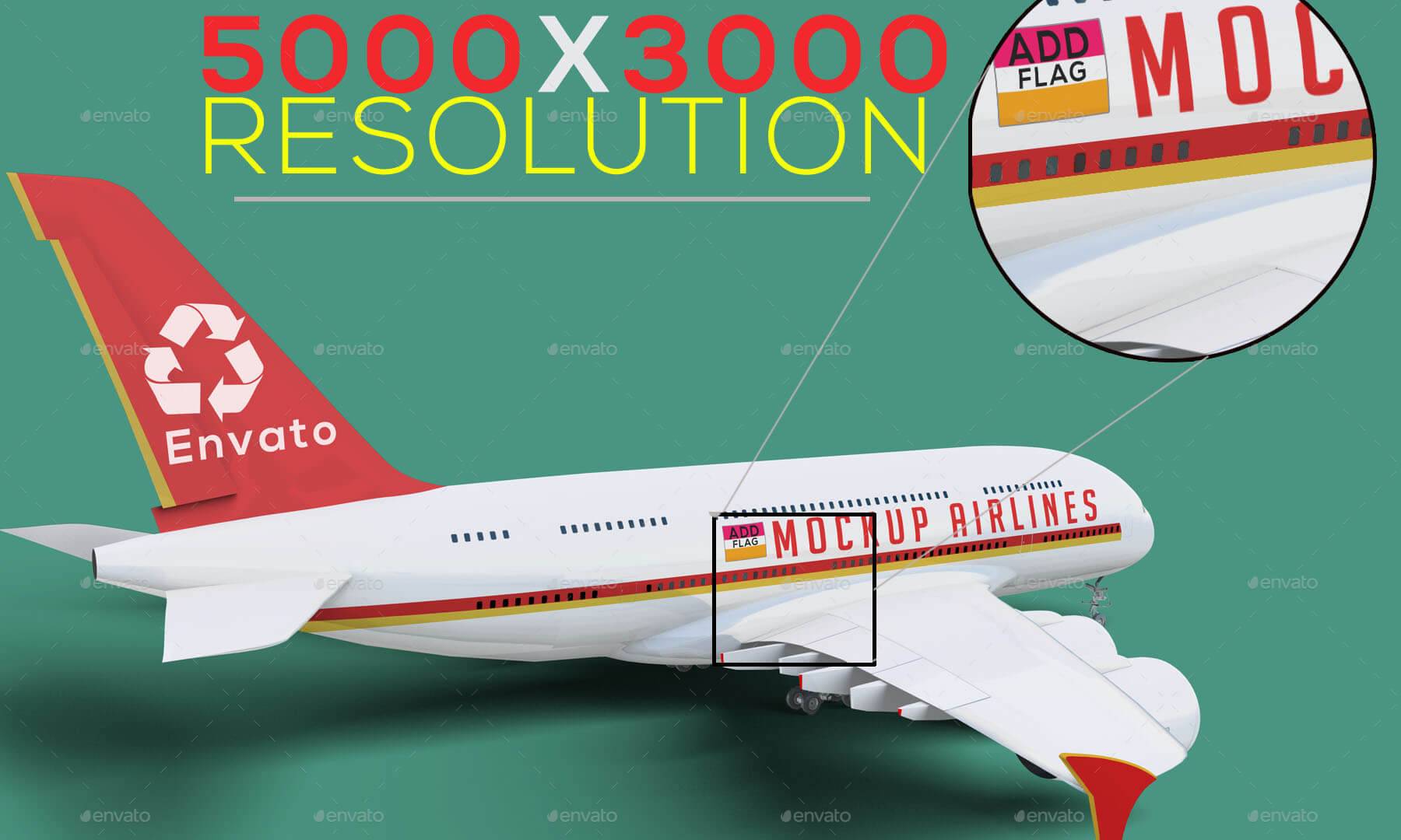 Airplane Advertising Mockup 02 - A380