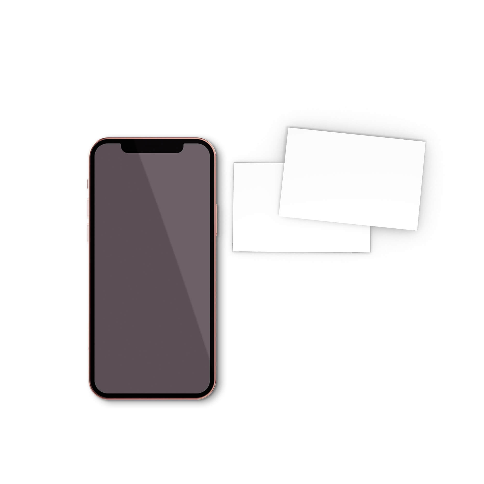 Blank Free Card And Phone Mockup PSD Template