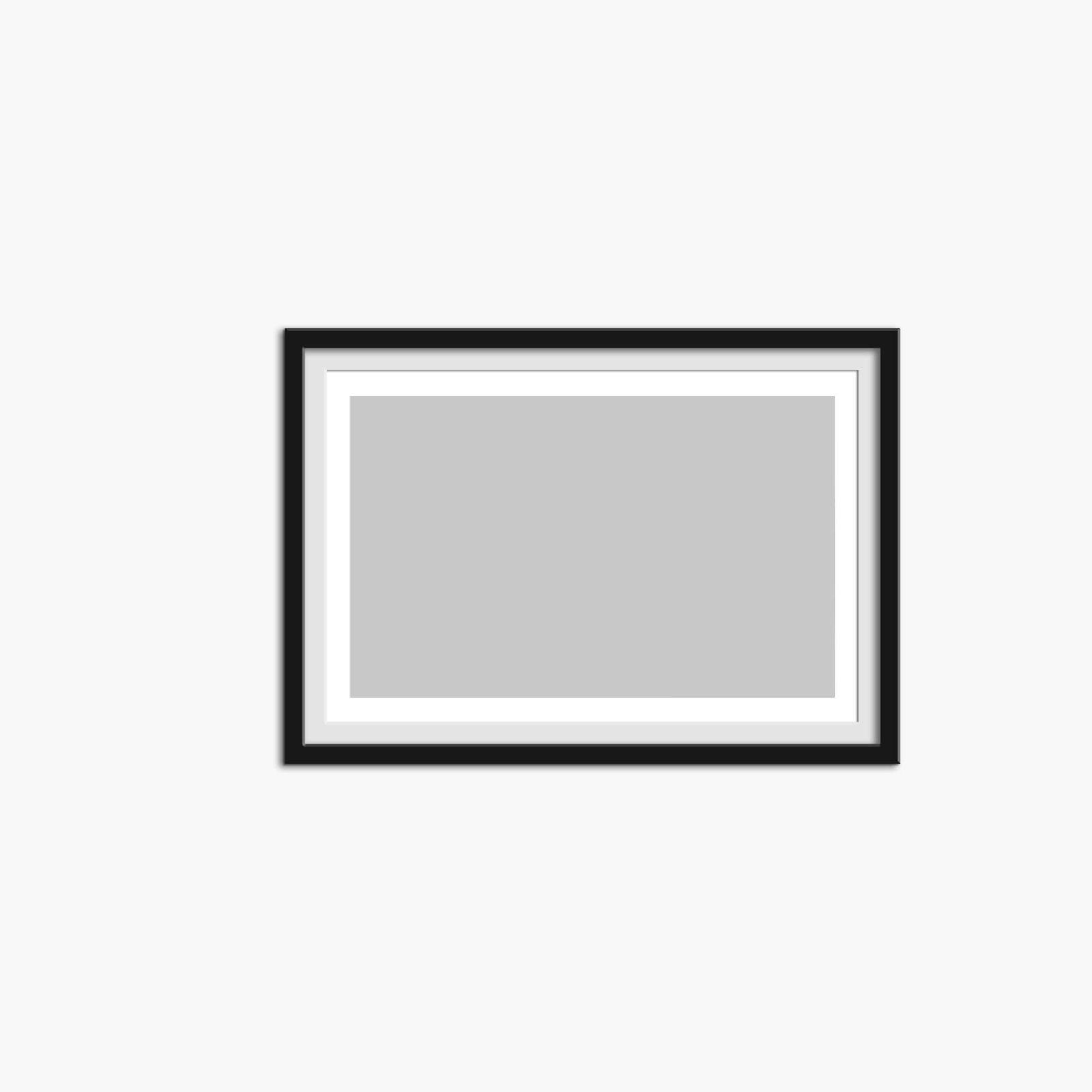 Blank Free Landscape Frame Mockup PSD Template