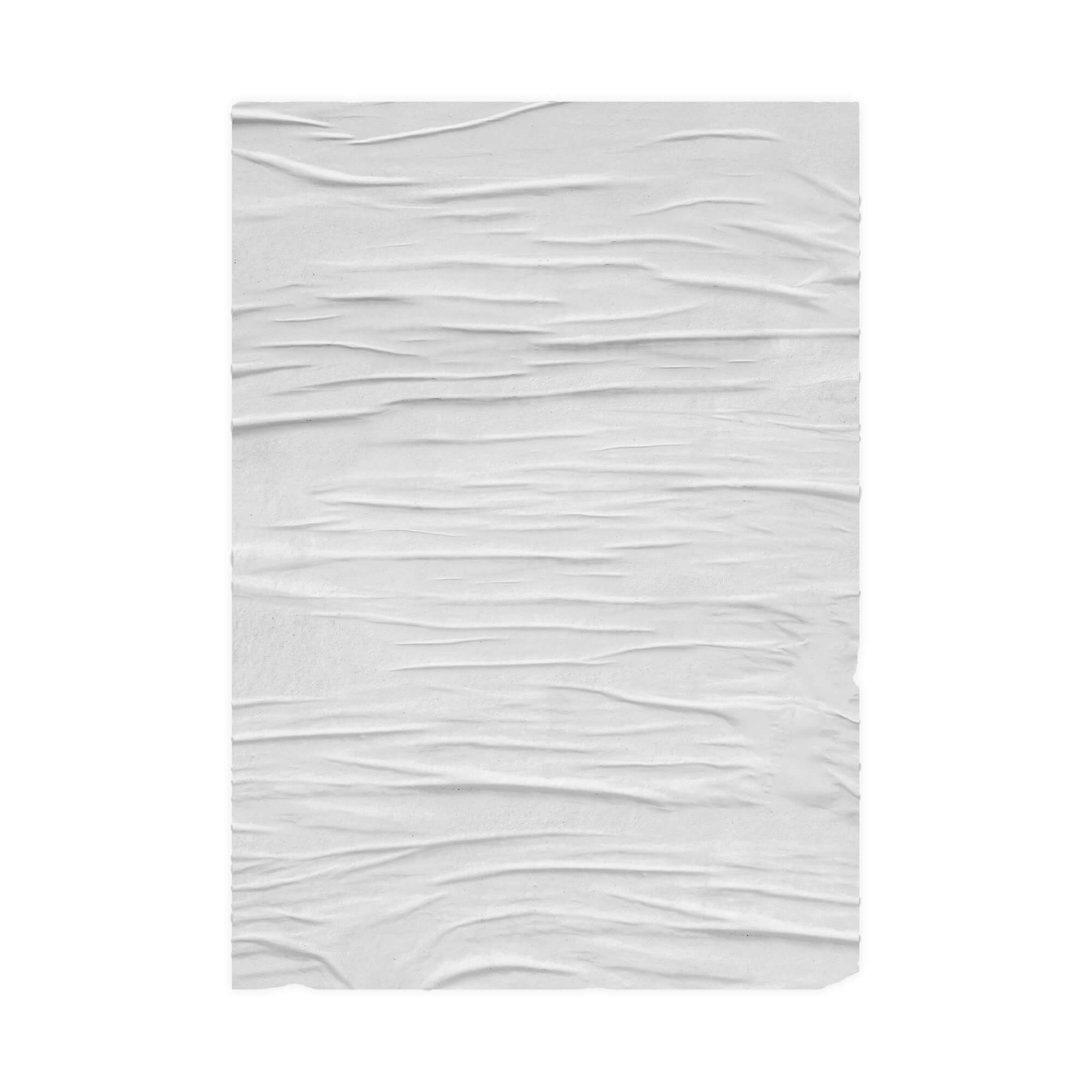 Blank Free Wrinkled Paper Mockup PSD Template