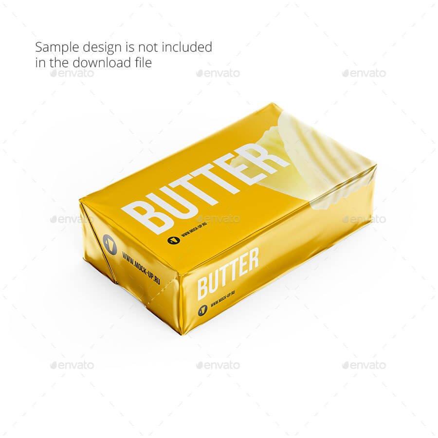 Butter Block Mockup 200g