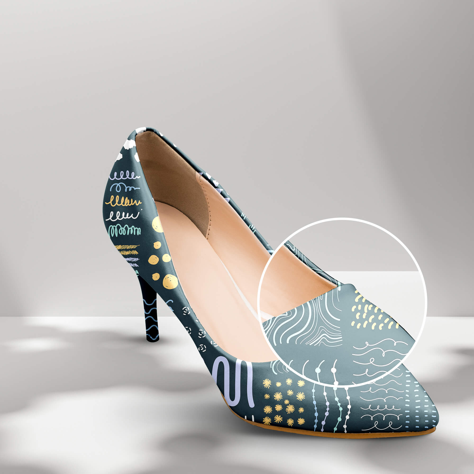 Close Up Of a Free High Heels Mockup PSD Template (1)