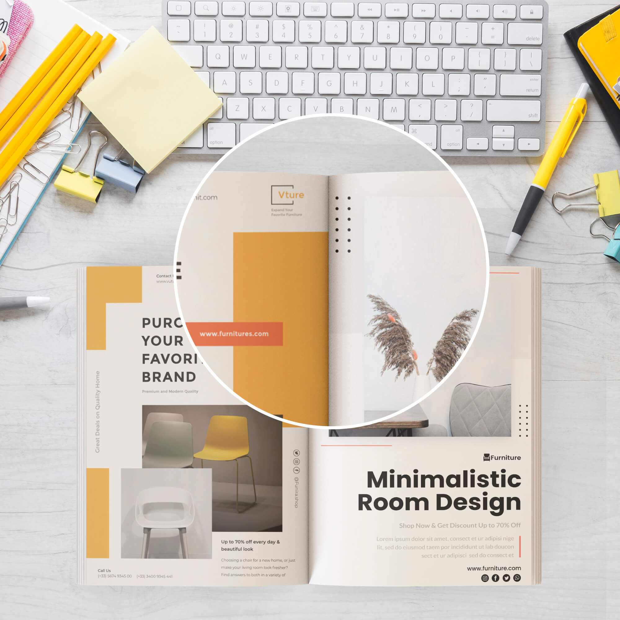Close Up Of a Free Open Book Mockup PSD Template