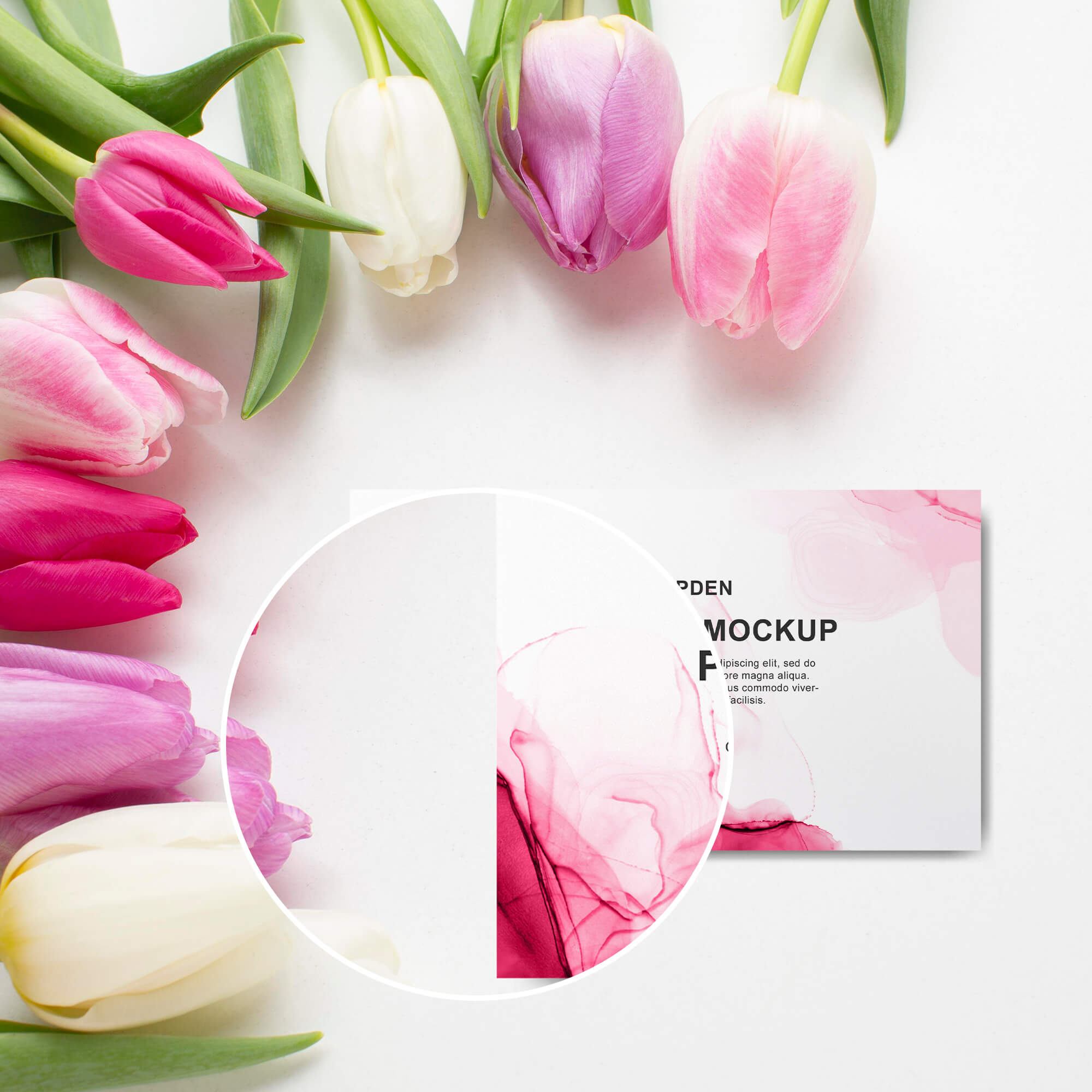 Close Up Of a Free Paper Card Mockup PSD Template