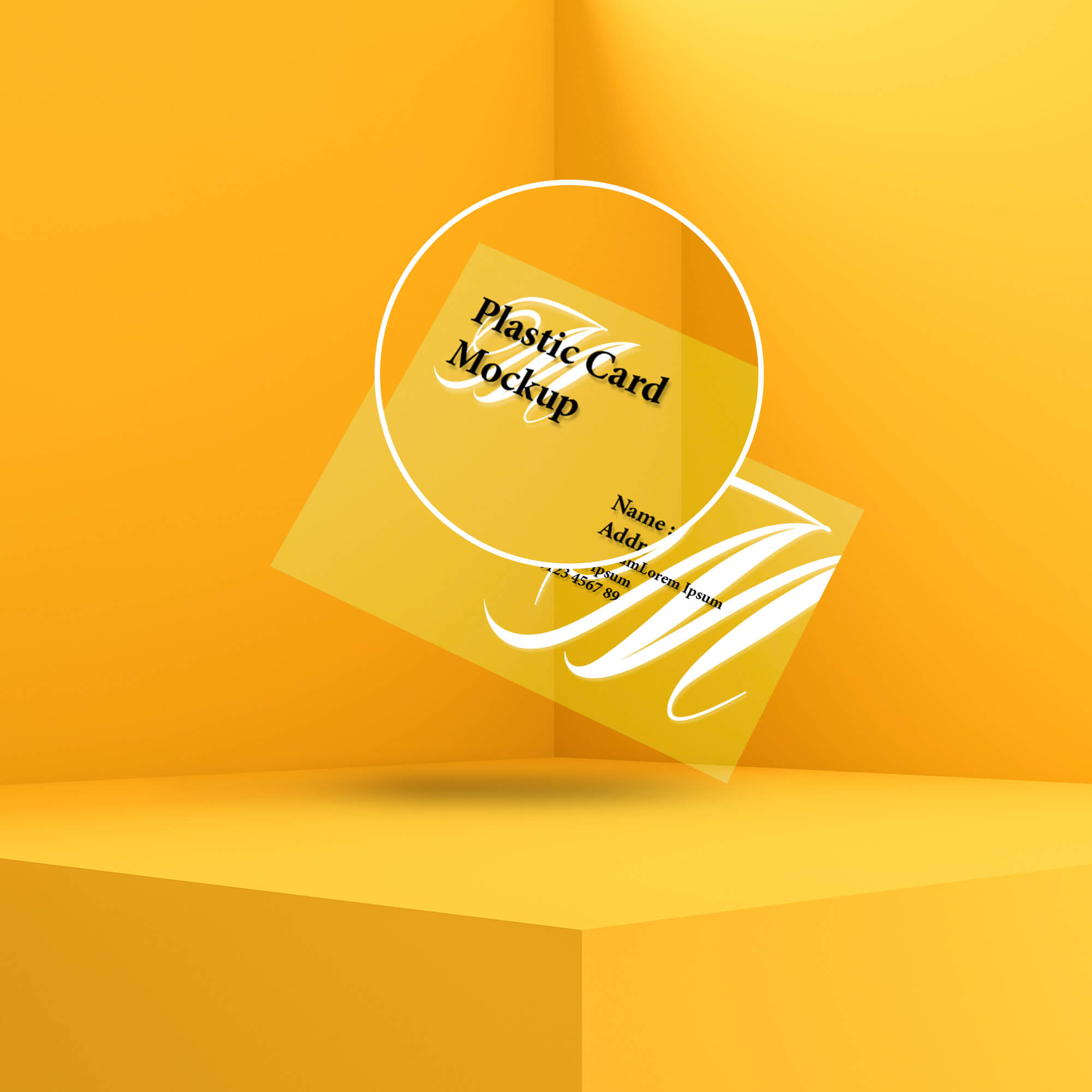 Close Up Of a Free Plastic Card Mockup PSD Template