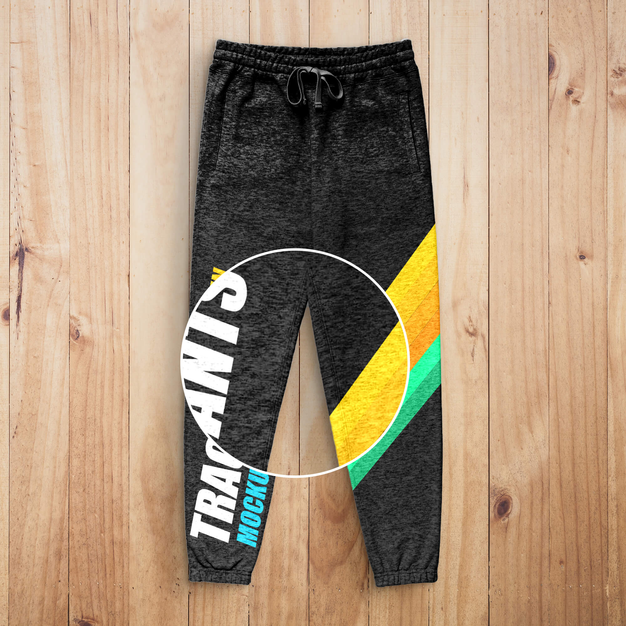 Close Up Of a Free Track Pants Mockup PSD Template