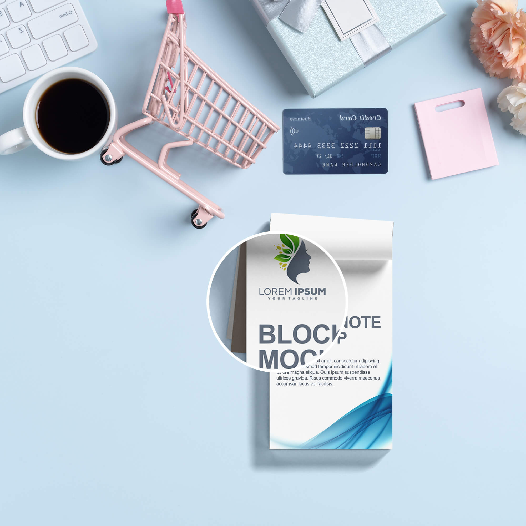 Close Up of a Free Block Note Mockup PSD Template (1)