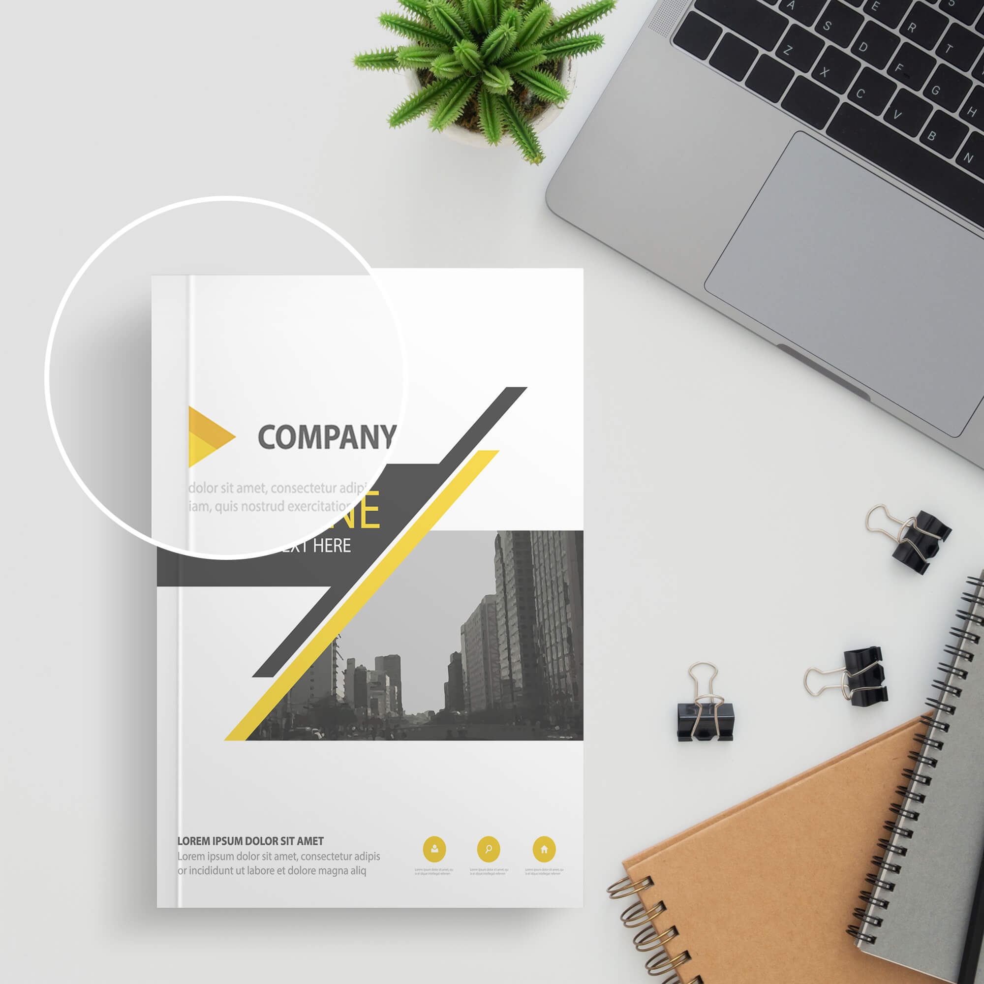 Close Up of a Free Paperback Book Mockup PSD Template