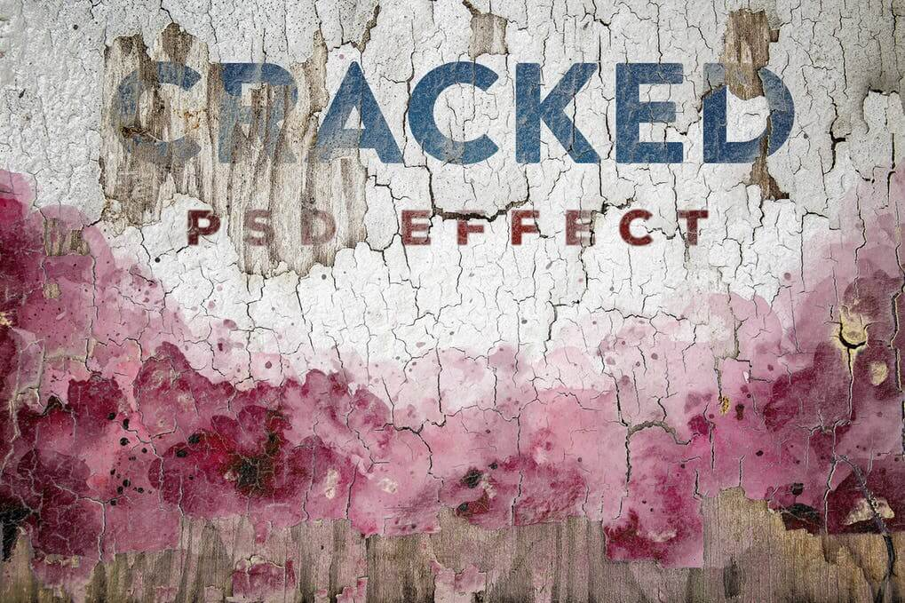 Cracked Painted Texture Mockup