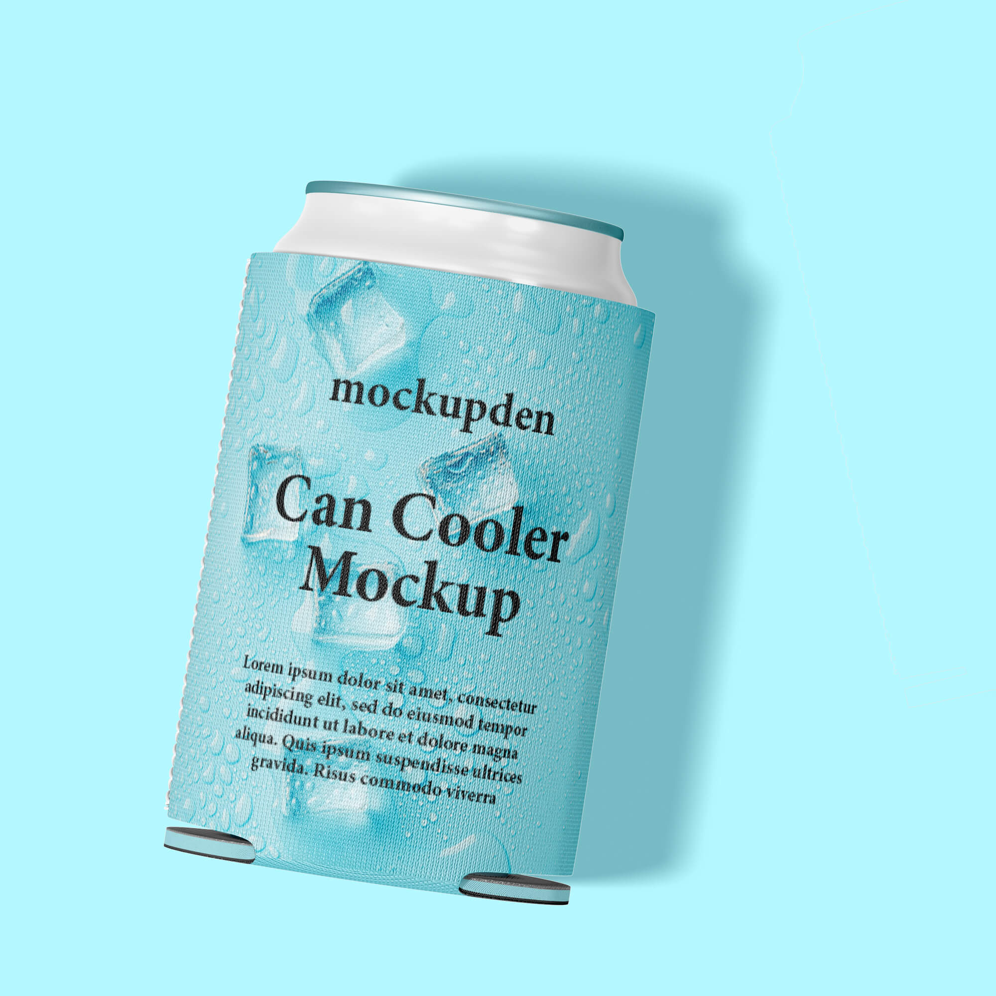 Design Free Can Cooler Mockup PSD Template