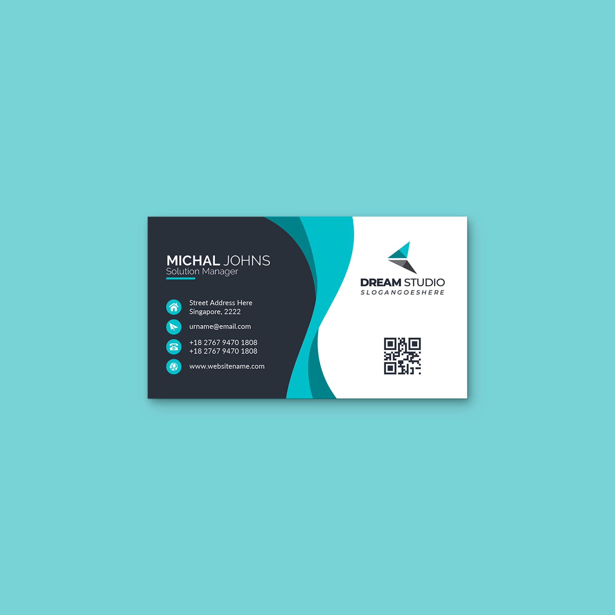 Design Free Personal Card Mockup PSD Template