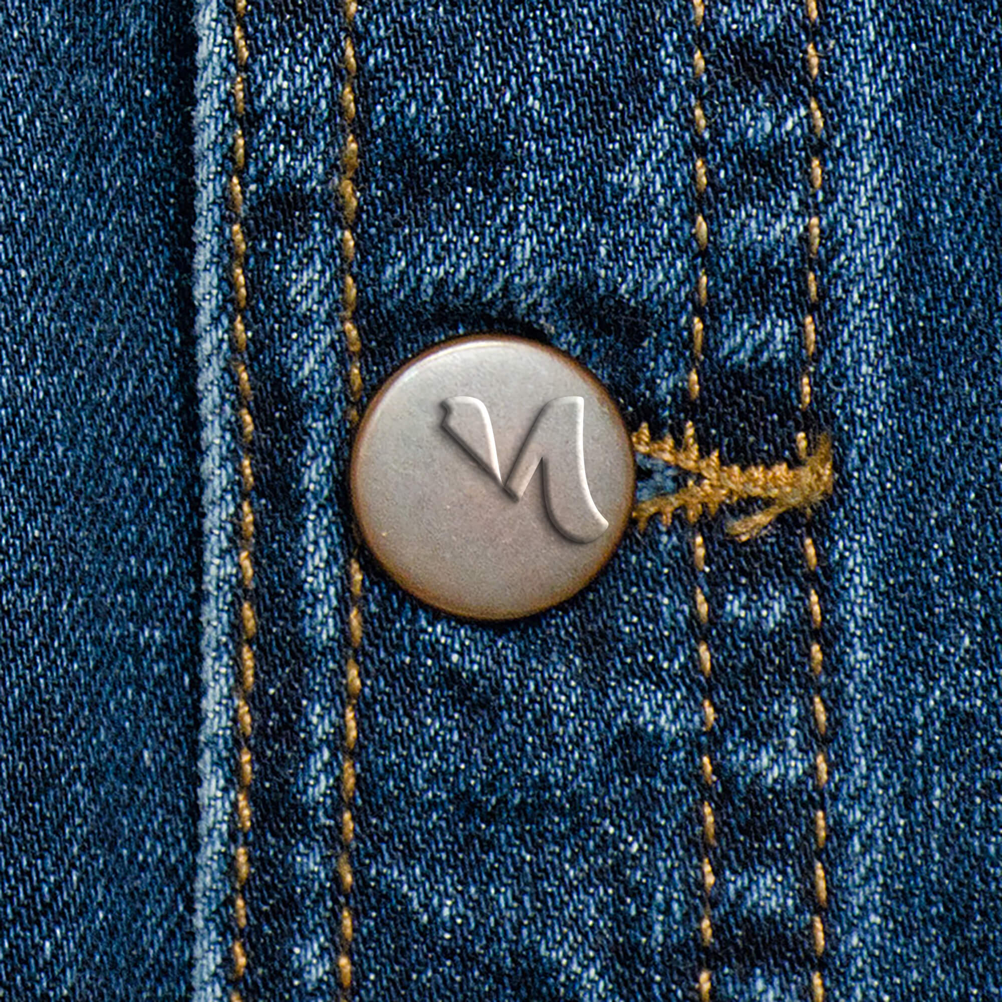 Editable Free Jeans Button Mockup PSD Template